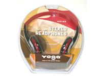 HEADPHONES LIGHTWEIGHT RED [CD22]