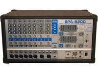 MIXER POWERED 8 CHANNEL 2x200W OUTPUT [SPA8200]