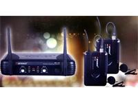 MICROPHONE WIRELESS UHF Dual Lapel with receiver [WR15D/B/MP006]
